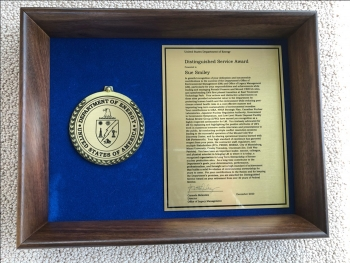 Sue Smiley's Distinguished Service Award from DOE.