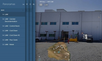 The new Hanford Site virtual tours webpage gives viewers panoramic images of multiple locations of cleanup efforts.