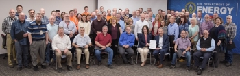 In this April 2019 photo, EM's Office of River Protection and contractor Bechtel National, Inc. celebrated closure of 12 legacy quality issues after more than a year of using an intense collaborative approach to work the issues to resolution.