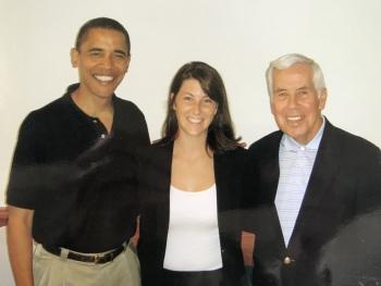 Former President Obama, Jennifer Smith, and former Sen. Lugar.