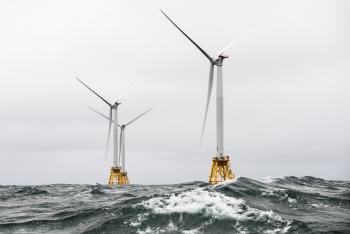 Offshore wind turbines at Block Island Wind Farm