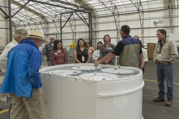 Members Tour Dome 375 at LANL