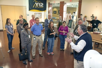 NPS and DOE staff learn about the history of Y-12 during Oak Ridge, Tennessee, site tour.