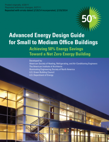 Image of the cover of the Advanced Energy Design Guide for Small to Medium Office Buildings.