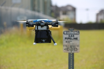 Supported by ARPA-E's MONITOR project, this methane-detecting drone can reduce costs and improve safety at natural gas facilities