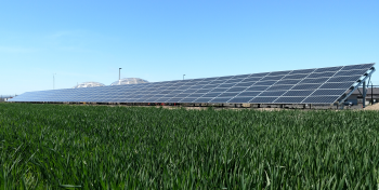 A large solar array installed in Oregon.
