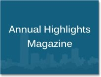 "Graphic box with the words ""Annual Highlights Magazine."""