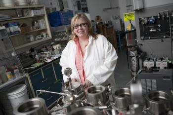 Portrait of Barbara k in a lab