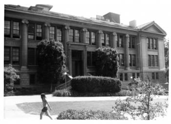 Gilman Hall, exterior view.