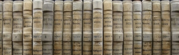 Supreme court minutes book collection in a row.