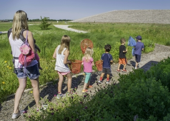 Butterfly catching event at the Weldon Spring Site.