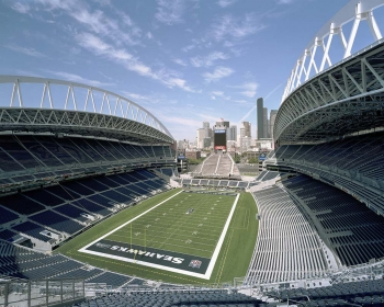Photo of CenturyLink Field, the home of the Seattle Seahawks.
