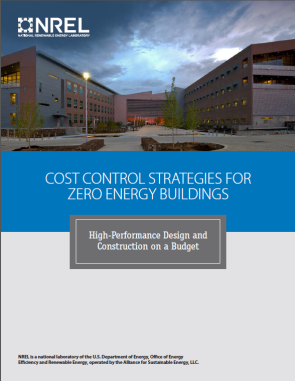 Image of the cover of the Cost Control Strategies for Zero Energy Buildings report.