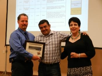 Certificate to Chairman Valdez