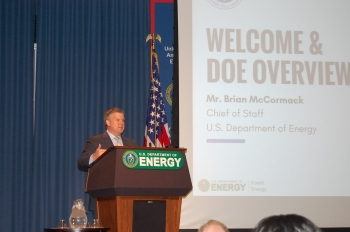Department of Energy Chief of Staff, Brian McCormack, welcomed participants.