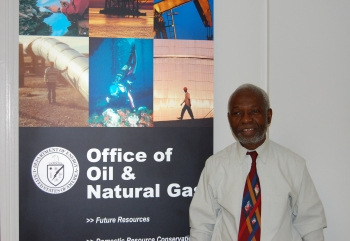 Dr. Olayinka Ogunsola, Senior Program Manager within the Office of Fossil Energy's Office of Oil and Natural Gas