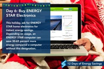 Day 6: Buy ENERGY STAR Electronics