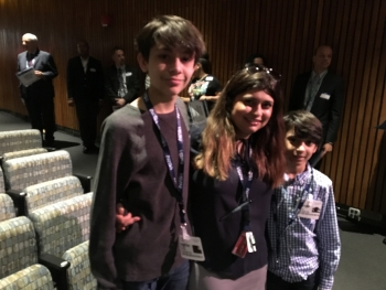 Faiza with her sons Noah, age 10, and Daniel, age 13
