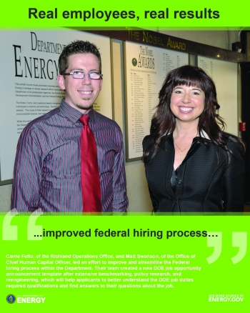Carrie Fetto (Richland Operations Office) and Matt Swanson (CHCO)