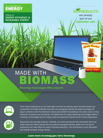 Made with Biomass: Food Packaging and Electronics