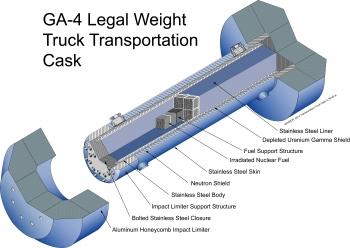GA-4 spent fuel truck transportation cask