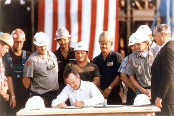 George H.W. Bush signs the Energy Policy Act of 1992