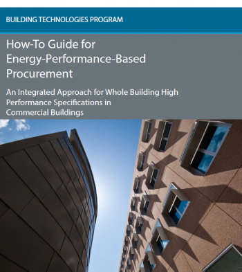 Image of the How-to-Guide for Energy-Performance-Based Procurement report cover.