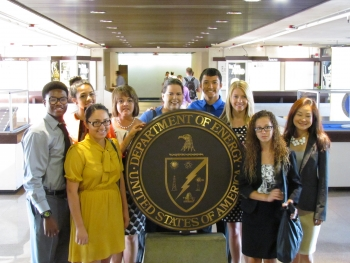 Independence High School Students visit Department of Energy.