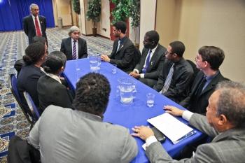 Talking STEM at Hampton University