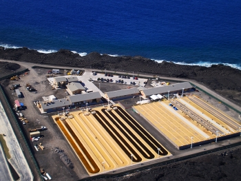 Aerial view of Cellana Inc.'s Kona Demonstration Facility.