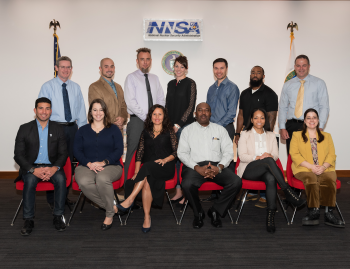 Mid-Level Leadership Development Program participants with Mark Holecek, NNSA's Kansas City Field Office Manager and Jeff Shoulta, Deputy Manager.