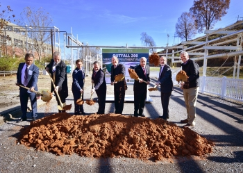 DOE officals and VIPs breaking ground of the new Mercury Treatment Facility