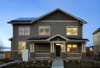 This photo shows the ArtiZEN plan home design from New Town Builders of Denver, Colorado.