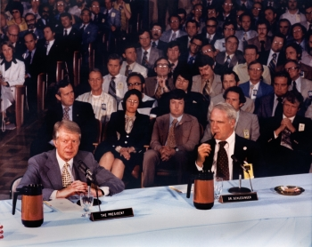 President Carter and Secretary Schlesinger at Oak Ridge National Lab