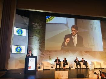 Secretary Perry speaking at Africa Oil Week