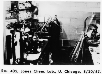 Room 405, George Herbert Jones Laboratory, University of Chicago.