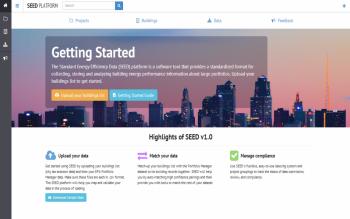 Screenshot of the Standard Energy Efficiency Data (SEED) Platform.