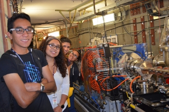 Summer interns take a tour of the Stanford Synchrotron Radiation Light Source (SSRL) at SLAC.