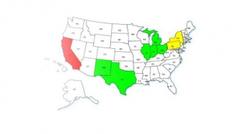Map Showing Smart Grid Energy Demo Projects by State