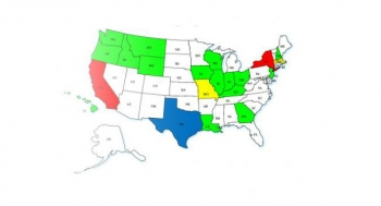 Map Showing Energy Storage Projects by State