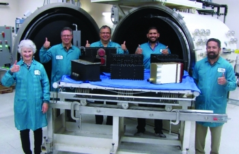 Members of the GBD III 1-8 Team from Sandia National Laboratories, celebrate the final production delivery of the III 1-8 Blk. P