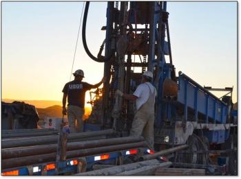 USGS research drilling. Source: Joshua Hicks, USGS