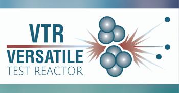Versatile Test Reactor graphic with atoms splitting
