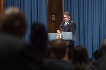 Secretary Rick Perry delivers special remarks.