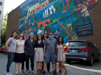The YPG group after a cultural tour through downtown Knoxville.