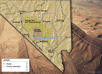 Location of Yucca Mountain, Nevada