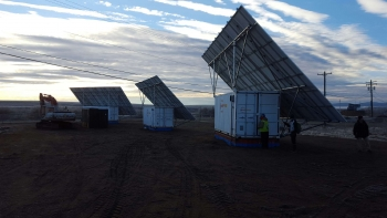 Photo of boxpower solar containers in Alaska.