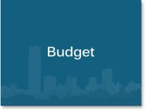 """Graphic box with the word """"Budget."""""""