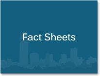 "Graphic box with the words ""Fact Sheets."""