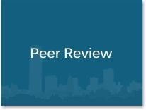 "Graphic box with the words ""Peer Review."""